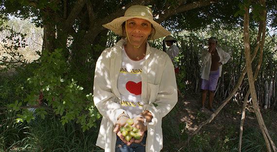 Camponesa integrante da Coopercuc (Bahia)