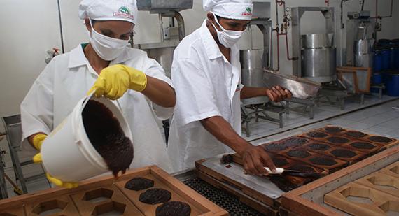 Produção de doces da Coopercuc (Bahia)