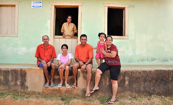 Família integrante da Cooproaf (Bahia)