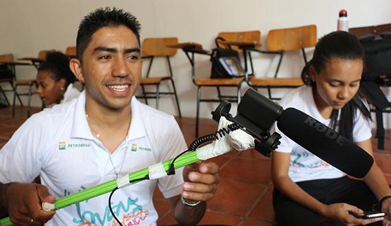 Preparando para gravar - Jovens Radialistas do Semiárido (Piauí)